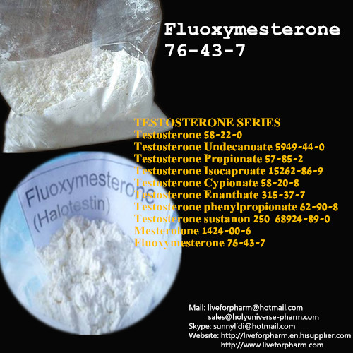 High Quality Fluoxymestero /Halotestin/ Ultandren/ CAS76-43-7