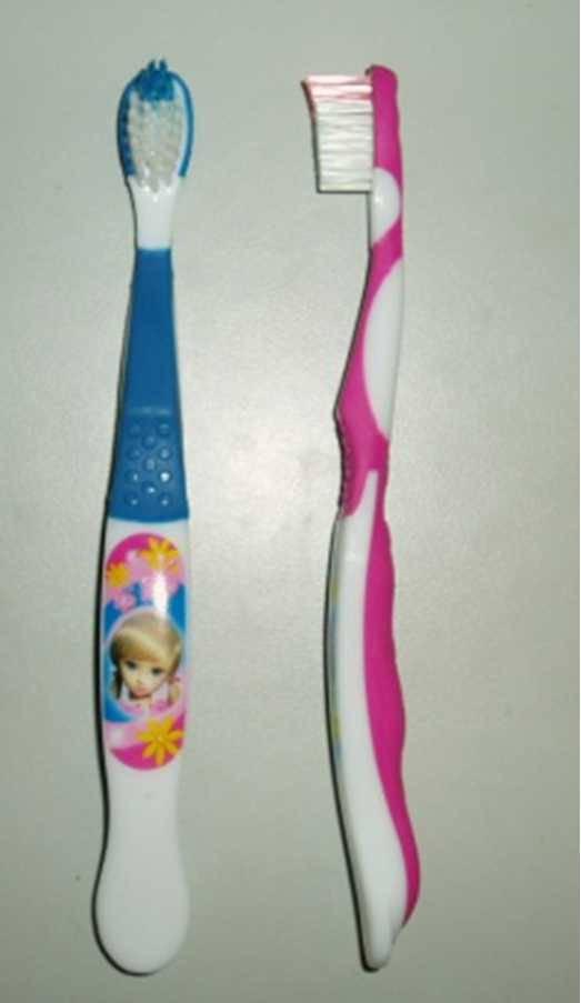 Children's toothbrush with cartoon imprinting