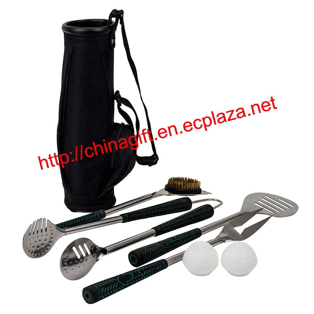 Golf BBQ TOOL SET - Golf Grip Grilling Set