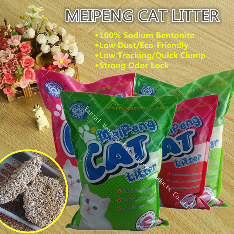 Cat litter bentonite bulk Meipeng factory clumping cat sand