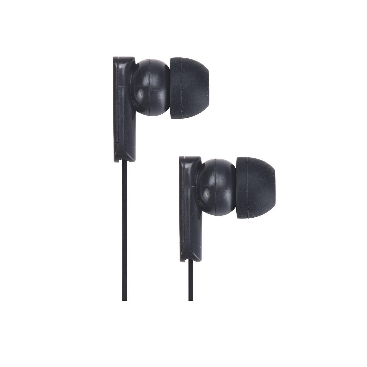 3.5mm stereo plug 10mm driver in-ear Plastic Earphone (H81056-BK)