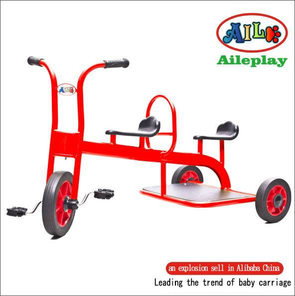 Double seat children tricycle