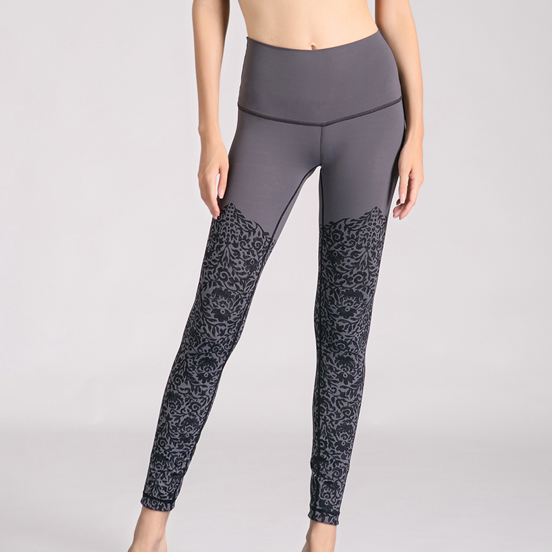 fitness jogging seamed yoga pants printed ladies leggings sport