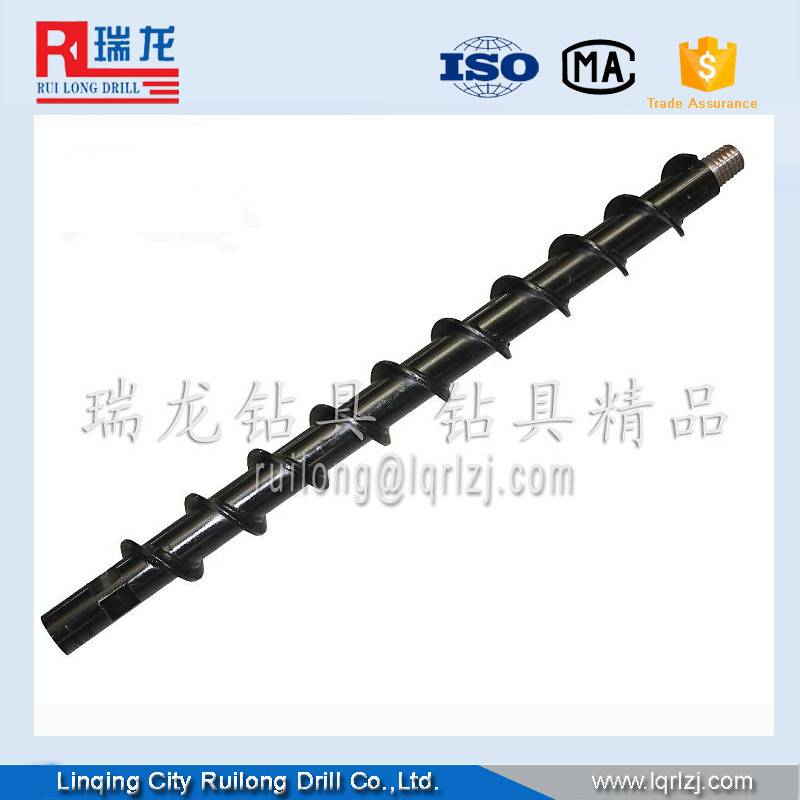 Spiral drill rods in sale