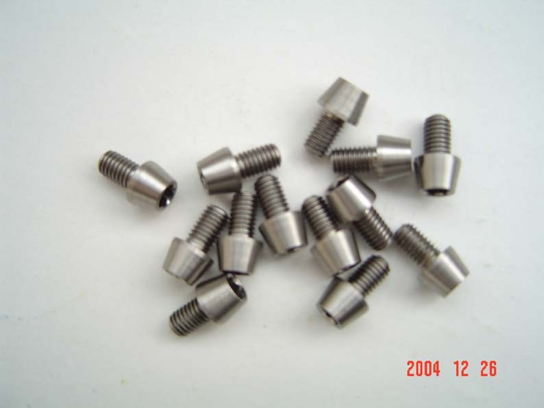 Titanium nut,bolt and washers