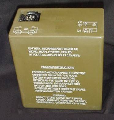 Rechargeable Nickel Hydirde Military Battery BB390/U