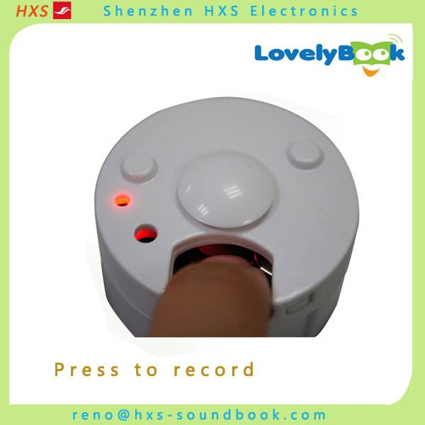 Recordable voice button modules/recordable sound module for toys