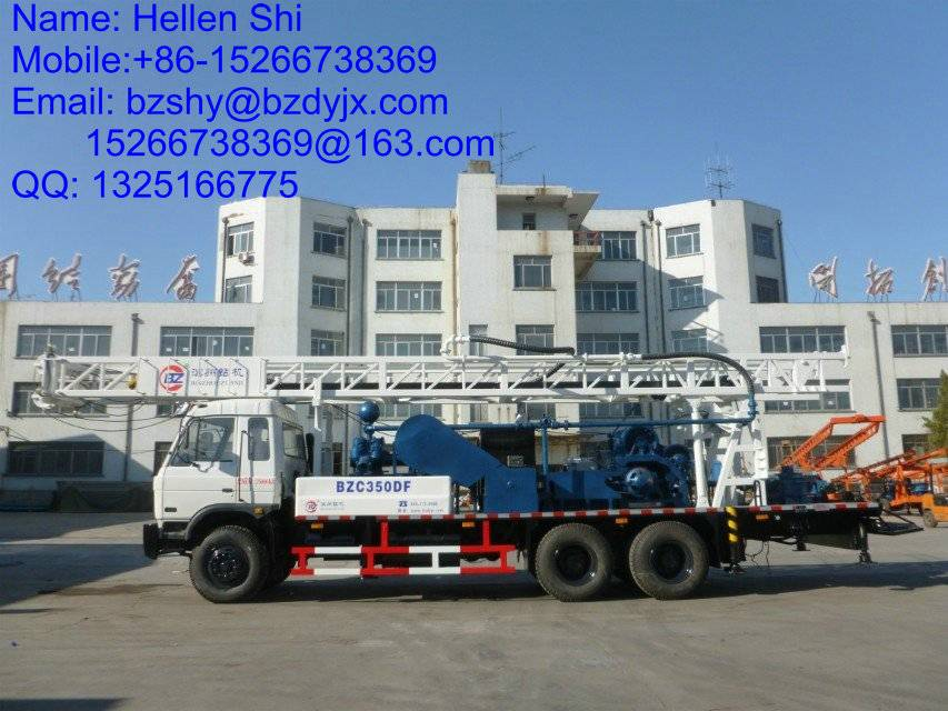 truck mounted drilling rig BZC350DF