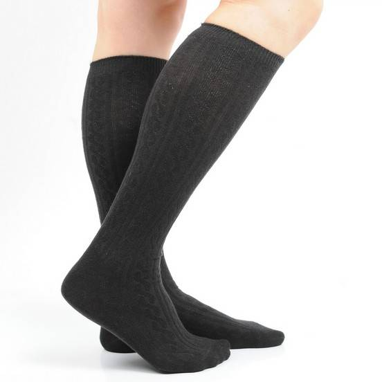 Wholesale Black Sexy Women's Calf Cotton socks
