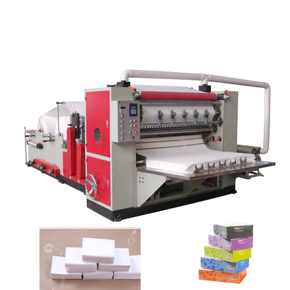 Automatic V folding facial tissue paper making machine