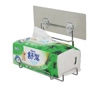 Reusable Adhesive Stainless Bathroom Toilet And Tissue Paper Holder - Taiwan