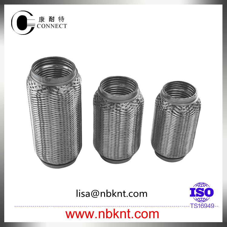 New item auto exhaust flexible tube with wire meshed and braided