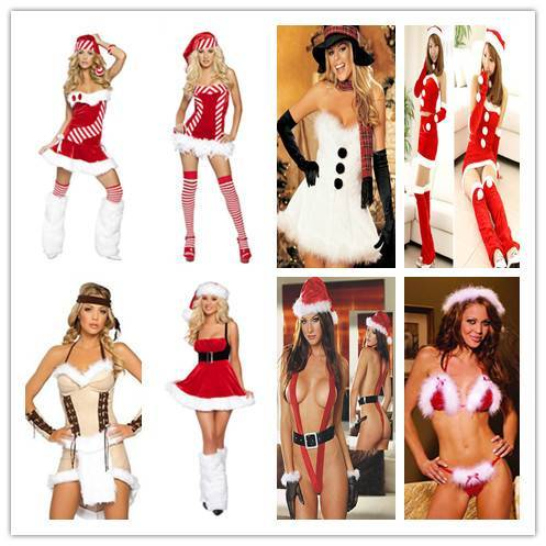 Sexy Christmas Costume with Stripe (www lingerieoffer com)