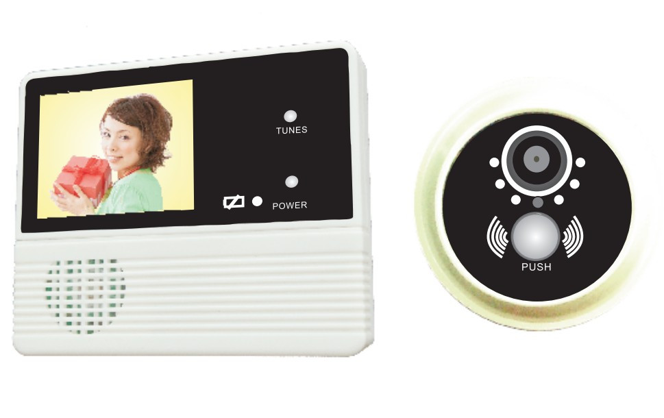 2.4 inch video camera doorbell with good night vision and 32 ring tones GW601B-2AH