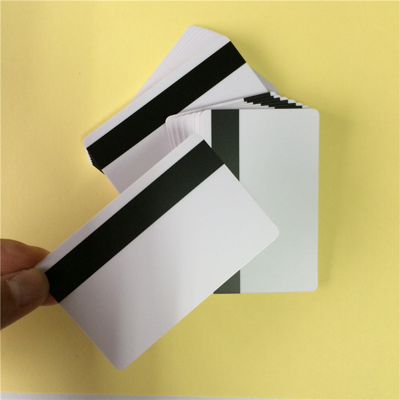 PVC blank blank Magnetic stripe card for supermarkets, hotels