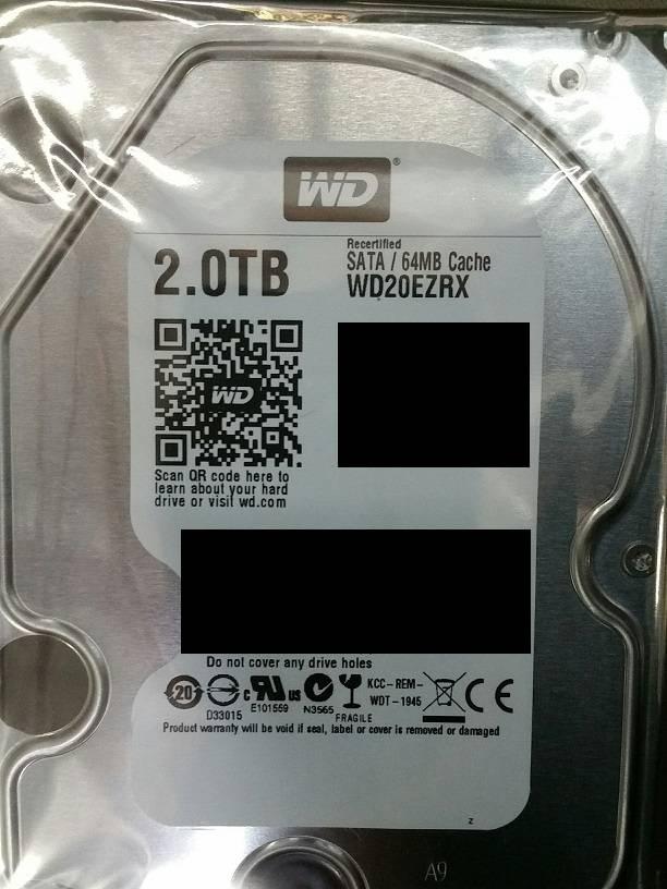 WD20EZRX 2TB HD FR
