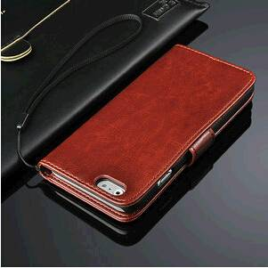PU leather wallet case for iphone 6