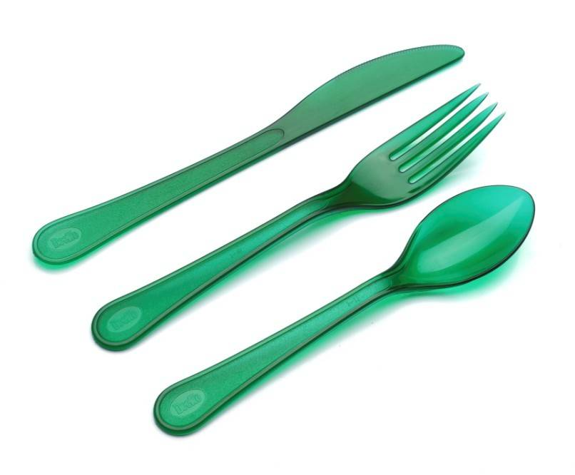 cool color plastic cutlery for summer