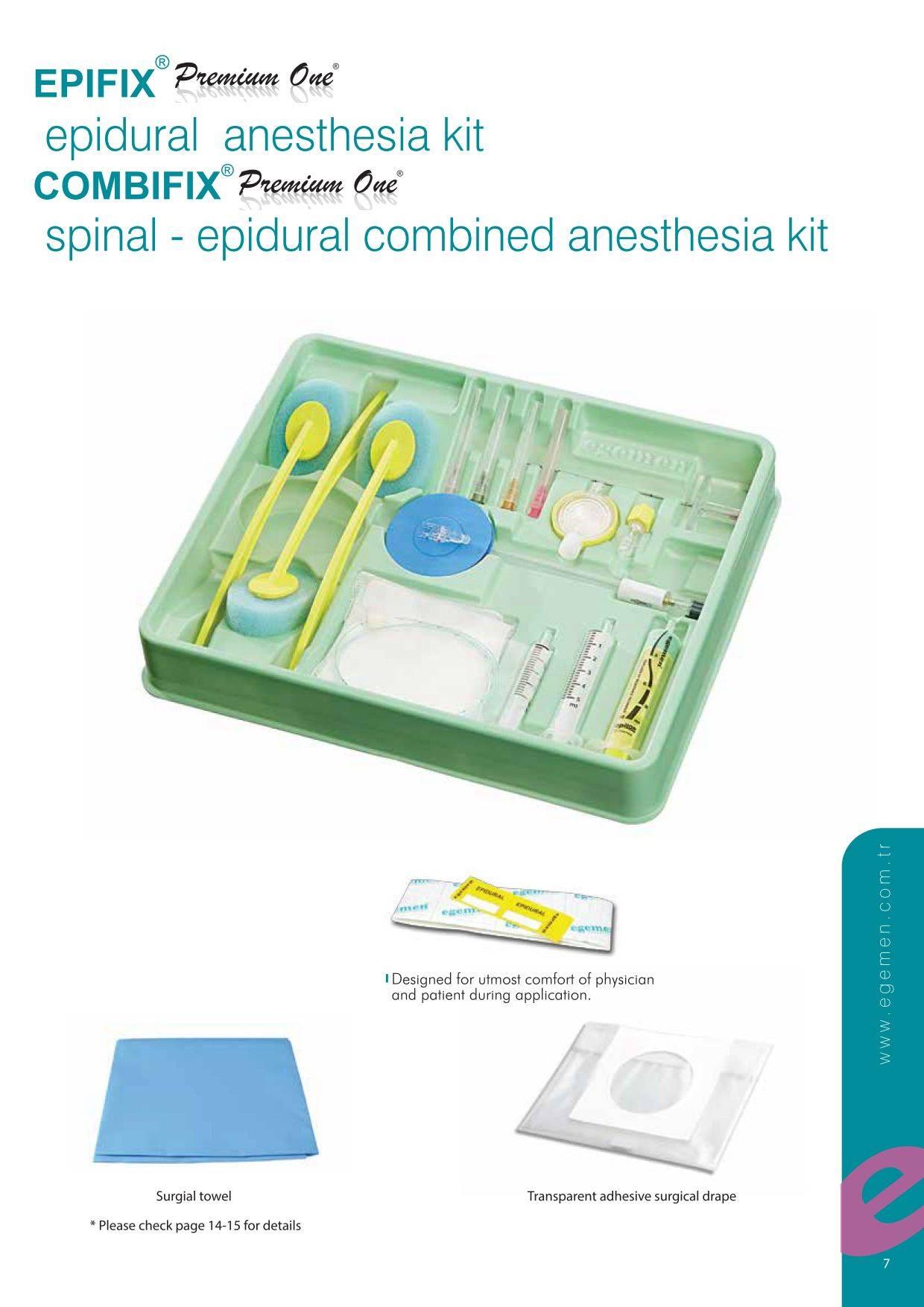 Epifix Premium One Epidural Anesthesia Kit