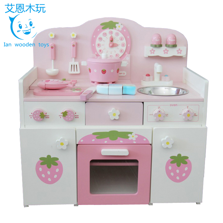 Pretend Play Kids Wooden Kitchen for Preschool Education