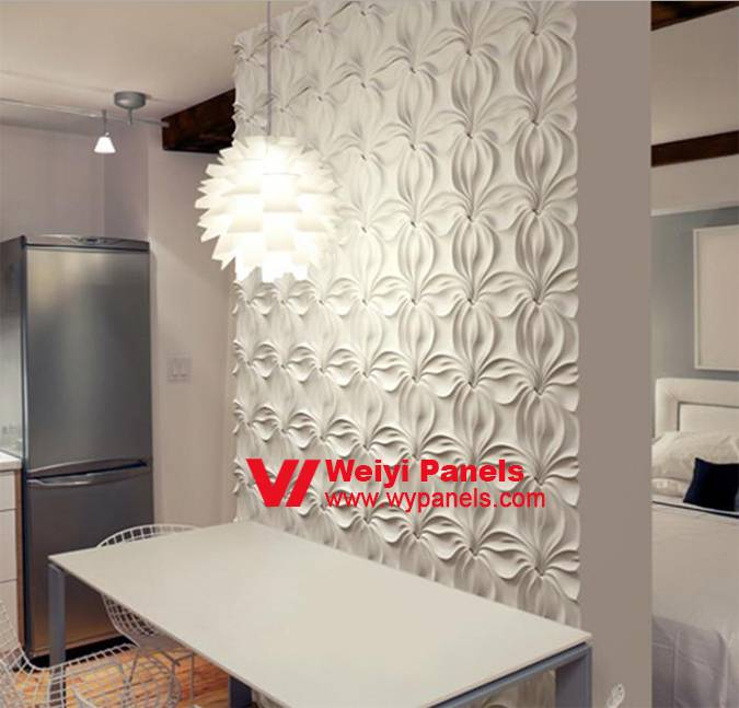 Decorative 3D Wall Panels-3D Wave Wall Panels WY-209
