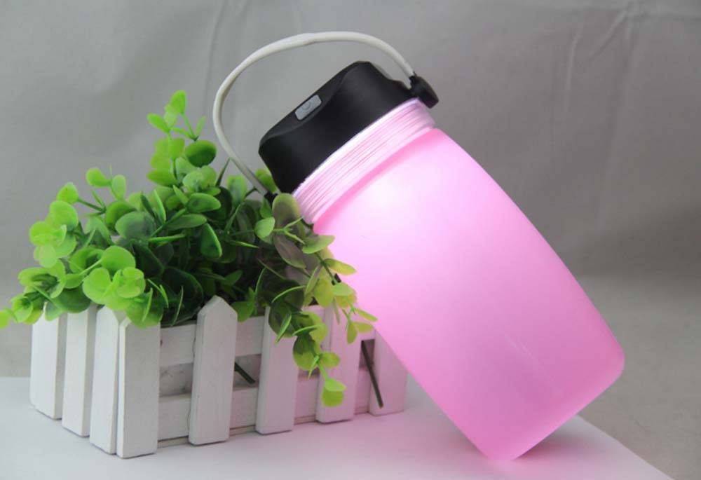 silicone/silica gel cups/folding and compress/USB charge/lighting/solar energy portable cups in outd