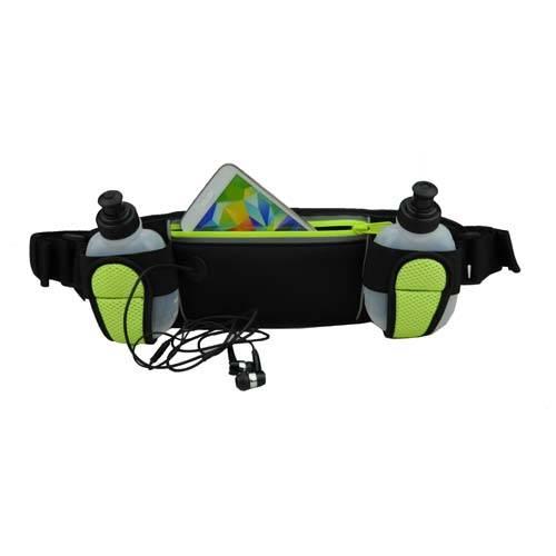 sport waist belt with bottle holders