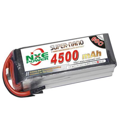 NXE4500mAh-60C-22.2V Softcase RC Helicopter Battery