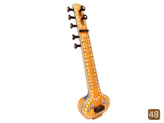 Wooden engraved musical miniatures-Sitar