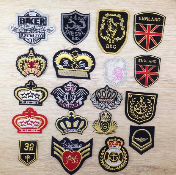 Football badges crown logo uniform club sign diy china factory