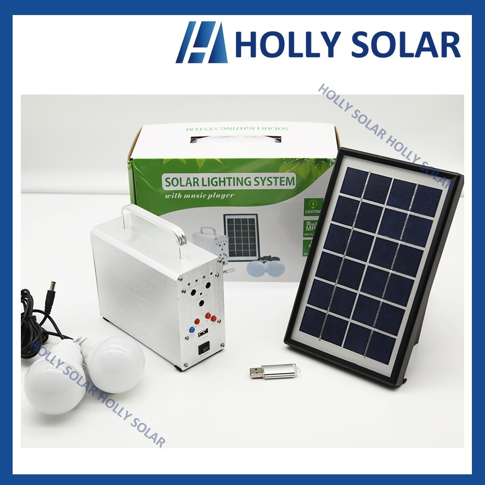 Solar Portable Bluetooth Music Player Speaker with Light