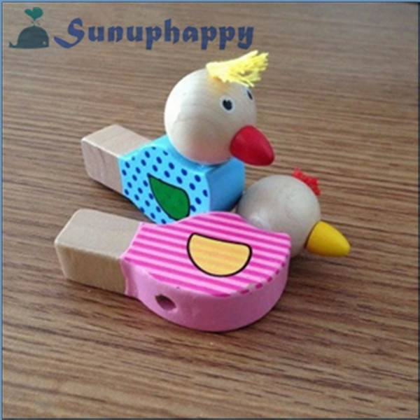 Hot sale new design custom cute bird shape plastic whistle for kids