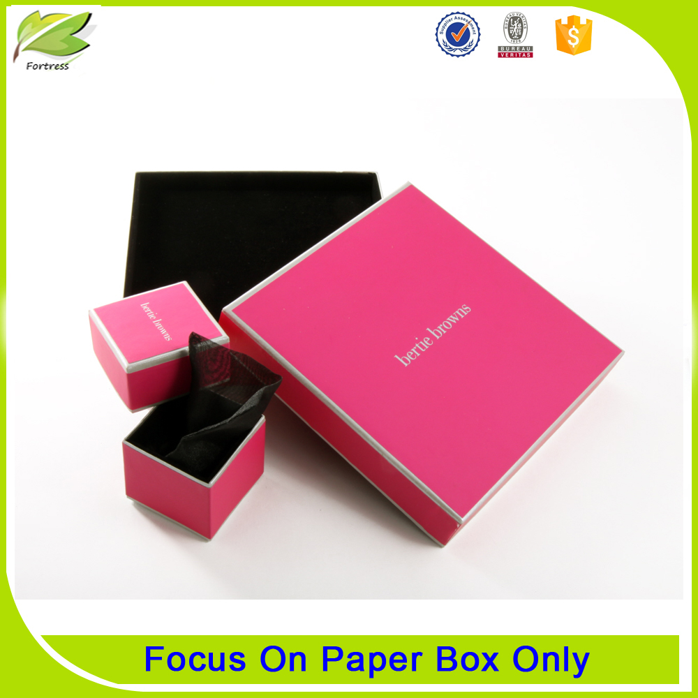custom logo paper jewelry packaging box