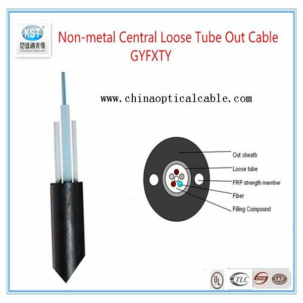 Non-metal Central Loose Tube Out Cable  GYFXTY