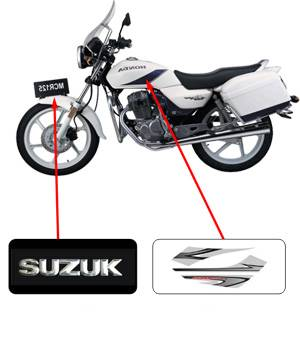 OEM motorcycle electric bike car body sticker