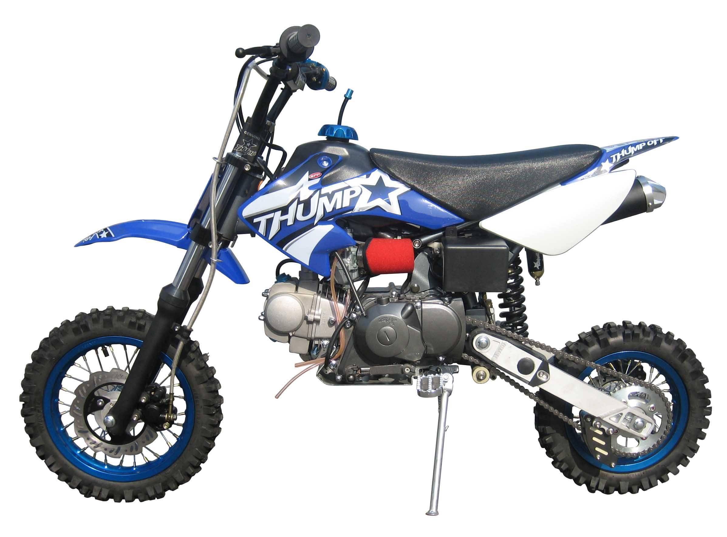 06 supa thumpstar dirt bike-(colour-blue)