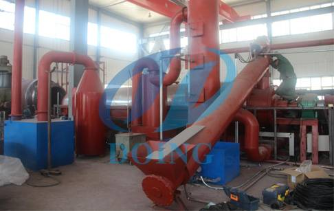 Continuous automatic plastic pyrolysis plant