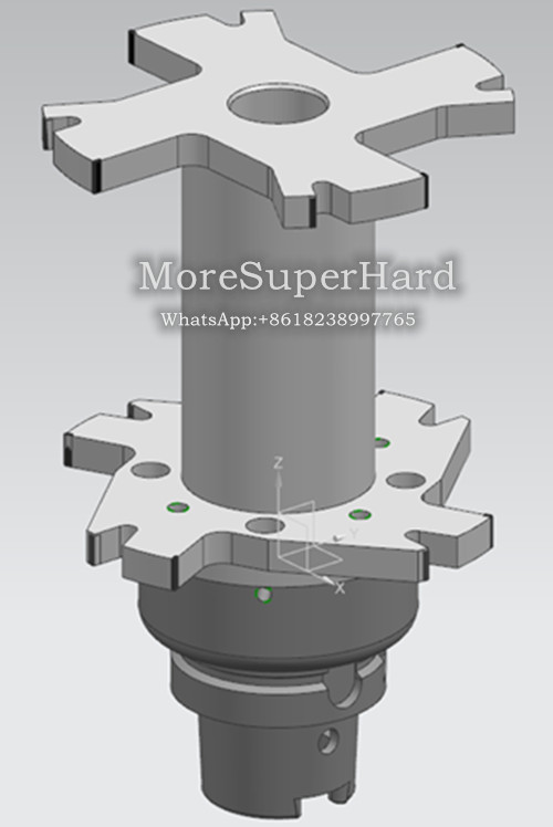 PCD compound reamer for processing Motor shaft hole