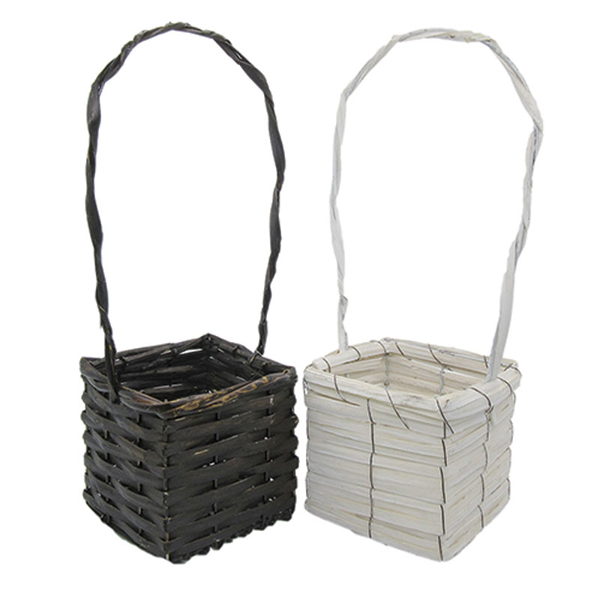 handmake rattan hanging basket for flower decoration