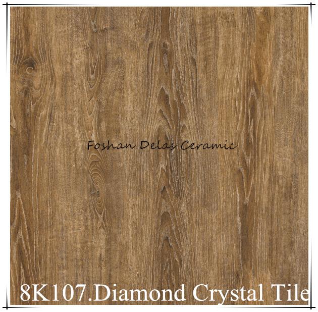 8K107 Imitation Wood Diamond Crystal Floor Tile 800800