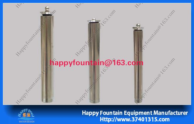 stainless steel trumpet nozzle water fountain
