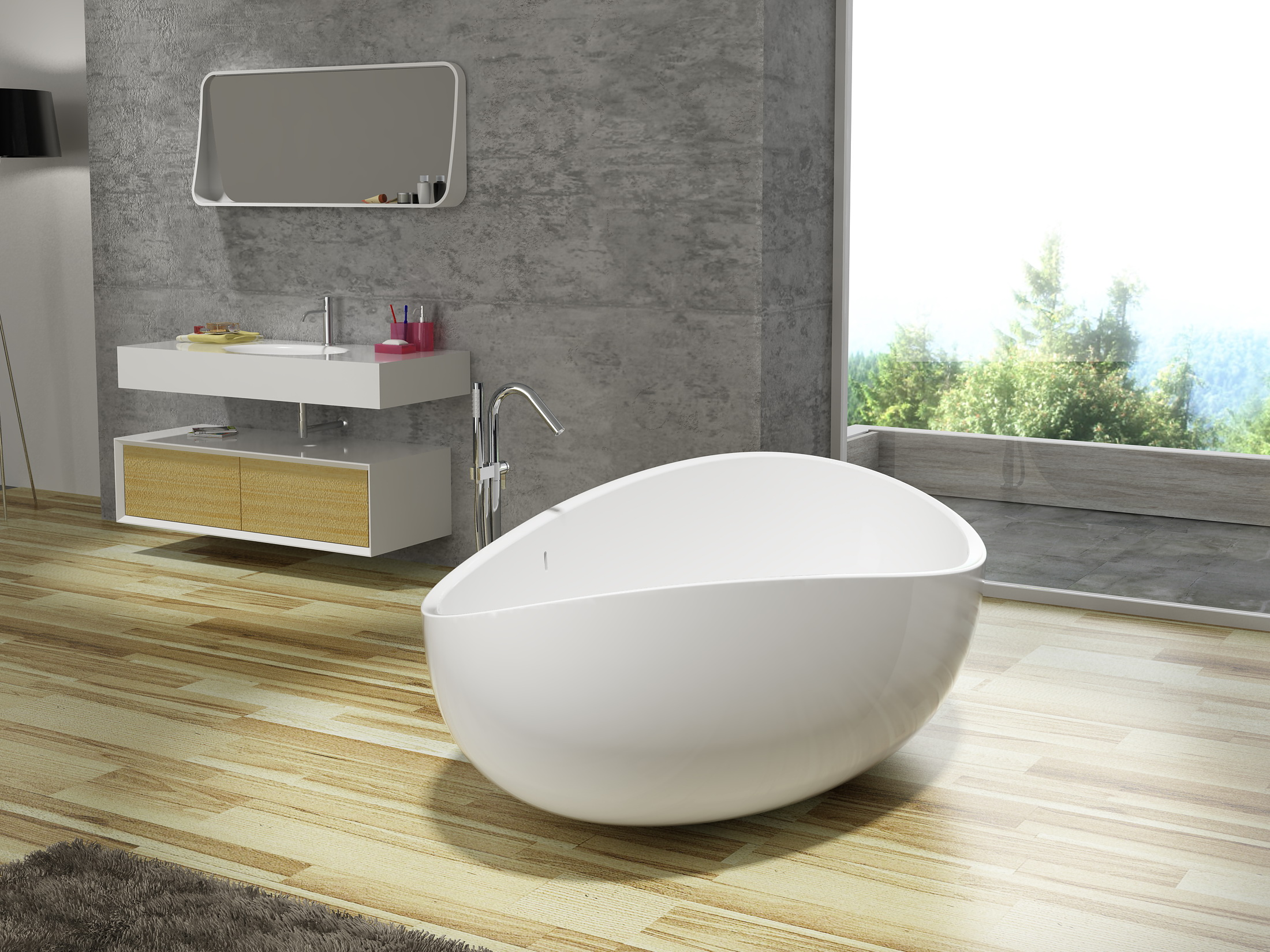 Freestanding Bathtub (Onda)
