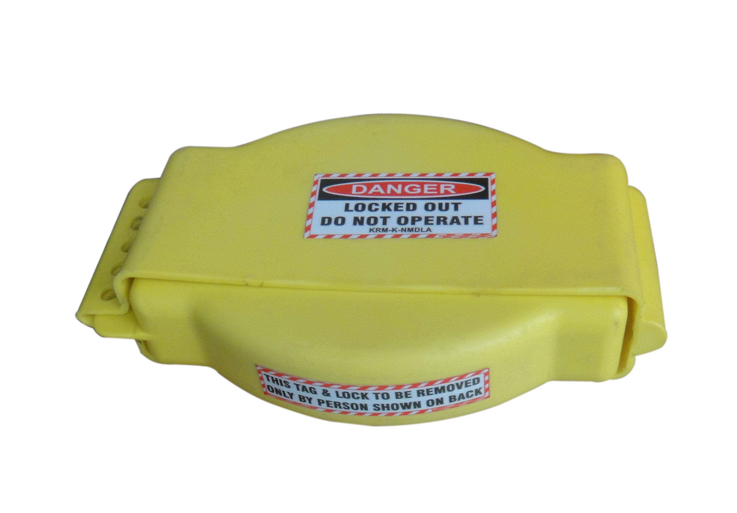 Gate Valve Lockout -  Yellow - Adjustable type BIG SIZE - 25 MM to 190 mm
