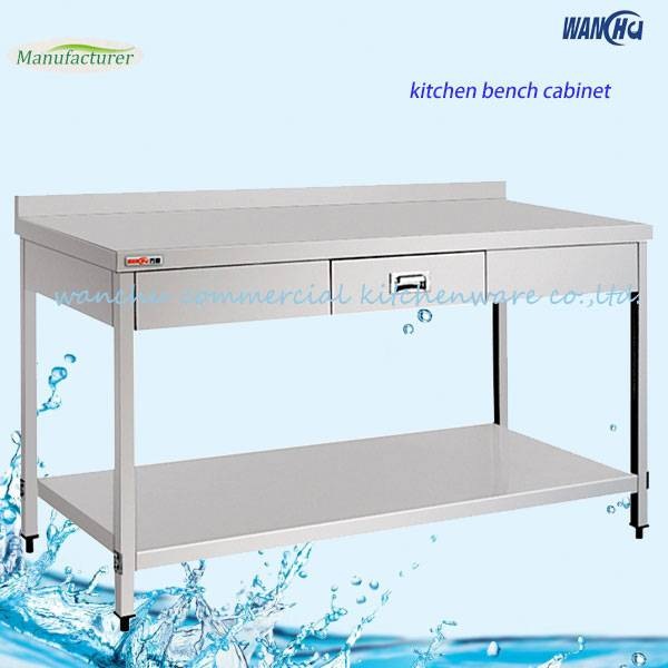 Double Worktable with The Drawers/Stainless Steel Kitchen Work Table