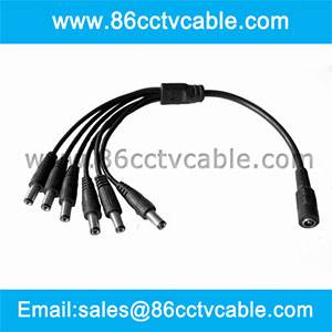 1 In 6 Out 2.1mm Power Plug Cable