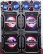 double 10inch active party speakers with led light