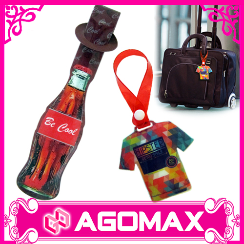 Custom logo cheap promotional plastic pvc luggage tag