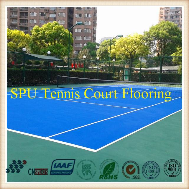 Spu Tennis Sports Flooring System Qualified by Itf