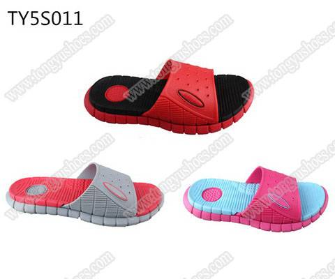 eco-friendly green eva material children fashion nude eva sandals