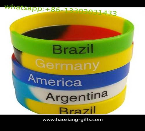 cheap custom silicone bracelets no minimum with debossed color slicone wristbands